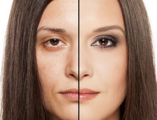 Макияж нависающие веки фото до и после
